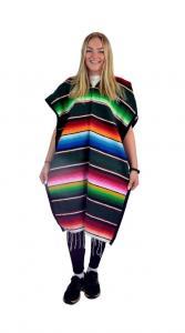 Mexikansk Serape Poncho