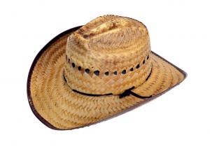 Stråhatt i Cowboy-stil