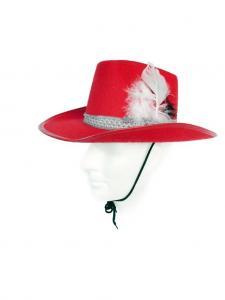 Vilda västern hatt / Klassisk - barn / Röd