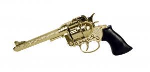 Knallpulverpistol - Revolver 43 / Guld